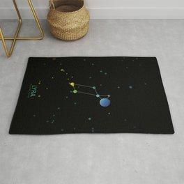Lyra Falling Eagle Constellation Rug