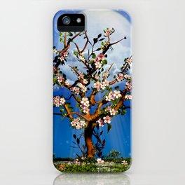 Cherry Tree Blossom under the moonlight iPhone Case