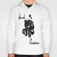 puppies Hoodies featuring Hush Puppies Japan by Mike Semler