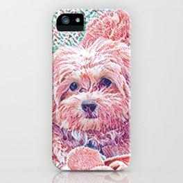 Copper the havapookie as a puppy iPhone Case