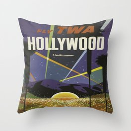 Vintage poster - Hollywood Throw Pillow