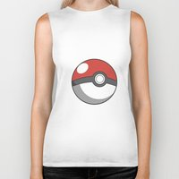 pokeball Biker Tanks featuring Pokeball ! by swiftstore