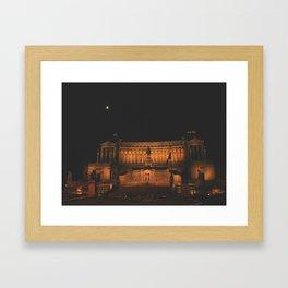 Rome - Moon Framed Art Print