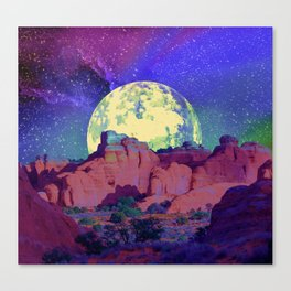 night desert landscape Canvas Print
