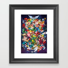 Playing with Power! Framed Art Print