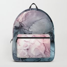 Blush and Paynes Gray Flowing Abstract Reflect Backpack