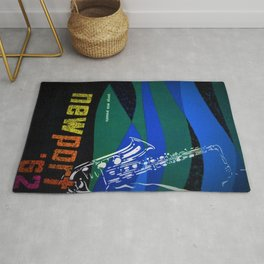 1962 Newport Jazz Festival Vintage Advertisement Poster Newport, Rhode Island Rug