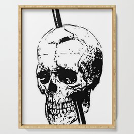 The Skull of Phineas Gage Vintage Illustration Serving Tray