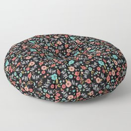 Pretty Not-So-Sweary: Nope, Night Floor Pillow
