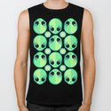 Sad Alien and Daisy Nineties Grunge Pattern by chobopop
