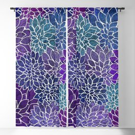Floral Abstract 22 Blackout Curtain
