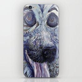 German Shepherd in Denim Colors iPhone Skin