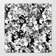 Black butterflies Canvas Print
