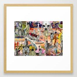 future garden Framed Art Print