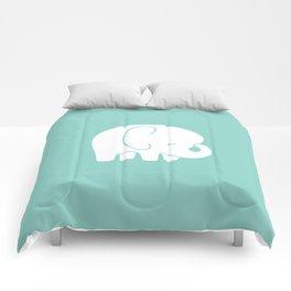 Mod Baby Elephant Teal Comforters