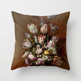 "Hans Bollongier ""Floral Still Life"" Throw Pillow"