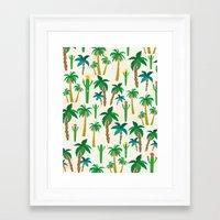 palm Framed Art Prints featuring palm by Ceren Aksu Dikenci