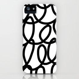 Loop the Loop / Black on white iPhone Case