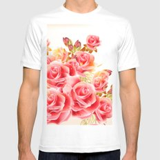 Beauty Roses VI MEDIUM Mens Fitted Tee White