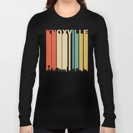 Vintage 1970's Style Knoxville Tennessee Skyline Long Sleeve T-shirt