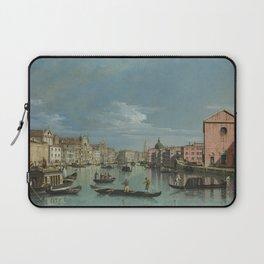 Venice: The Grand Canal facing Santa Croce by Bernardo Bellotto Laptop Sleeve