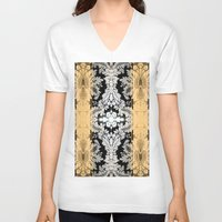 baroque V-neck T-shirts featuring Baroque by Monike Meurer