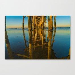 Mirror Under the Pier Canvas Print