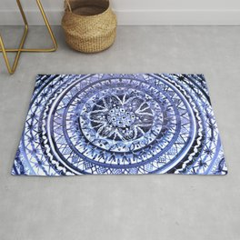 Blue and White Portuguese Porcelain Plate Rug
