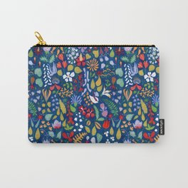 Colorful botanical pattern Carry-All Pouch
