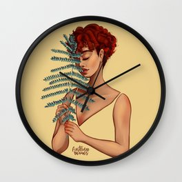 The girl in yellow Wall Clock