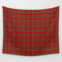 Tartan Classic Style Red and Green Plaid Wall Tapestry
