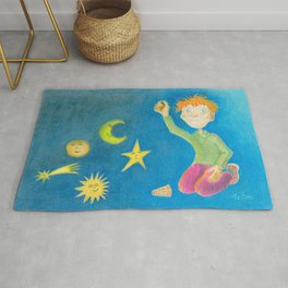 Child playing with his toys Rug