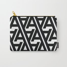 "Typographic Pattern ""A"" Carry-All Pouch"