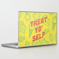 treat yo self Laptop & iPad Skins featuring Treat Yo' Self by Zeke Tucker