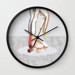 Skating #illustration #lifestyle Wall Clock