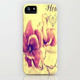 #Magnolia #passion with #beautiful #texture iPhone Case