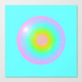 Rainhex Circle (Blue) Canvas Print