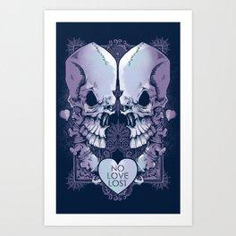 No Love Lost Art Print