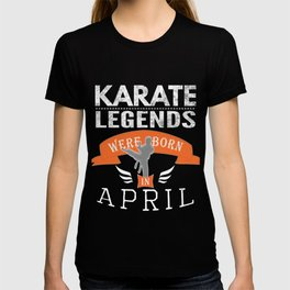 Karate legends are born in April Boys T-shirt