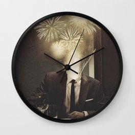 Lovely Head - Fireworks Wall Clock