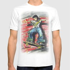 Bust a Move Mens Fitted Tee White MEDIUM