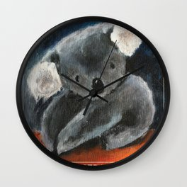 SAVE THE AUSTRALIAN KOALAS, proceeds will be donated. Wall Clock