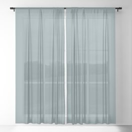 Atmospheric Dark Pastel Blue Gray Solid Color Pairs To Sherwin Williams Whirlpool SW 9135 Sheer Curtain