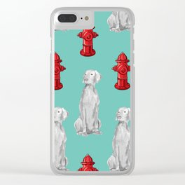 HYDRANTS AND WEIMARANERS Clear iPhone Case