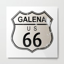 Galena Route 66 Metal Print