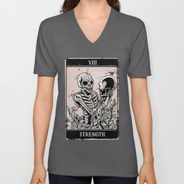 Tarot Card Occult Strength Unisex V-Neck