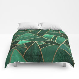 Emerald and Copper Comforters