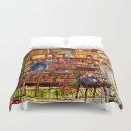 Christmas with Mice Duvet Cover