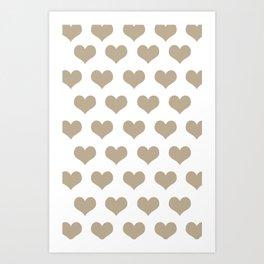 Golden Hearts Art Print