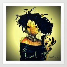 Cruella cat Art Print